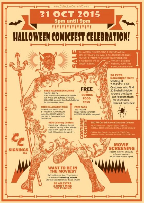 cc halloween comicfest celebration 1031 5pm 9pm