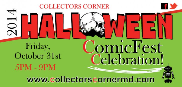 Halloween ComicFest Celebration! 10/31 at Both CC Locations. 5PM - 9PM.